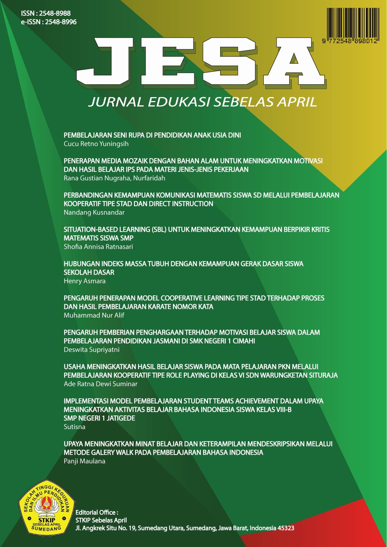 Jurnal Edukasi Sebelas April